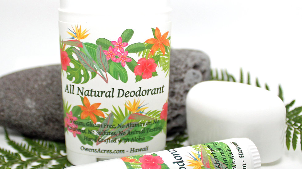 All Natural Deodorant - Vegan Deodorant - Organic Deodorant