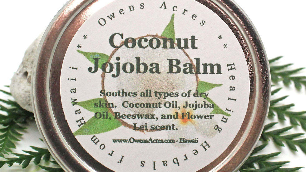 Coconut Jojoba Balm for Hair, Scalp, and Skin