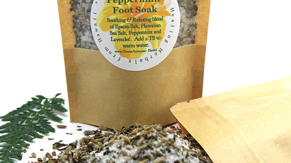Peppermint Foot Soak for Tired Achy Feet
