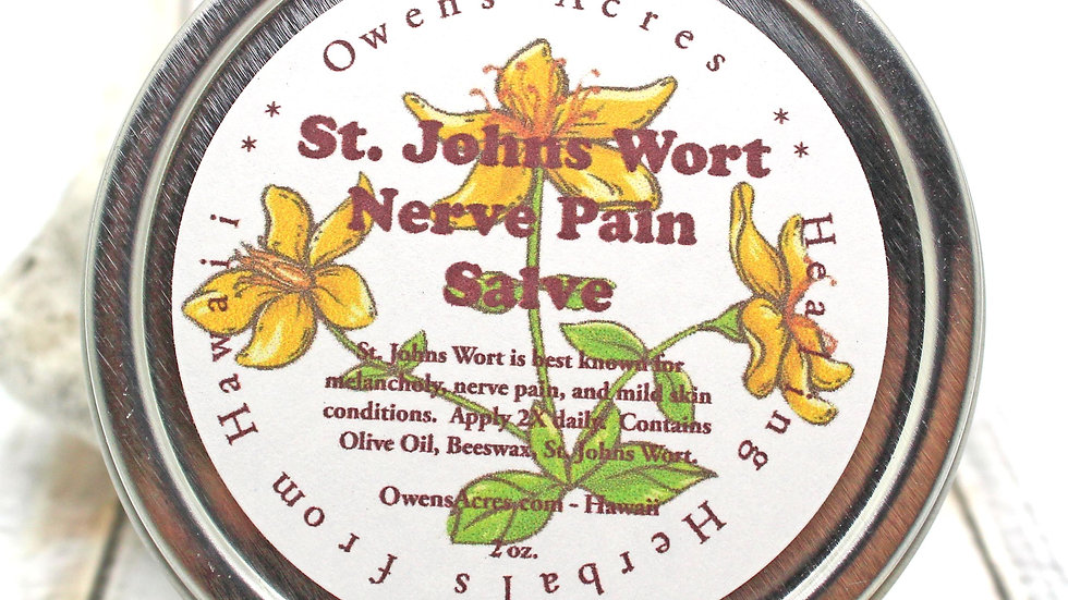 St. John's Wort Salve -  For Nerve Pain and Joint Pain, Bruising