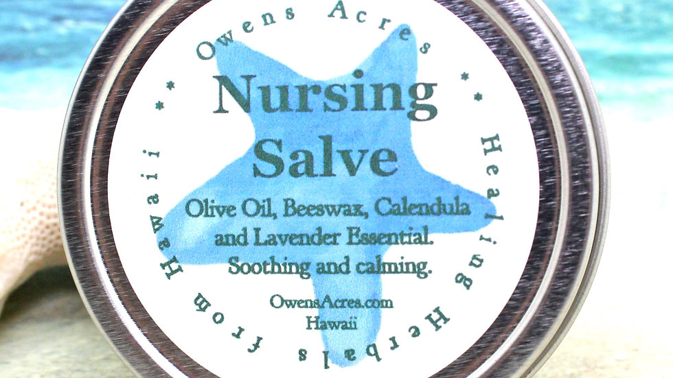 NURSING SALVE / Healing Salve for Sore Nipples and Breast Feeding - New Baby, Ba