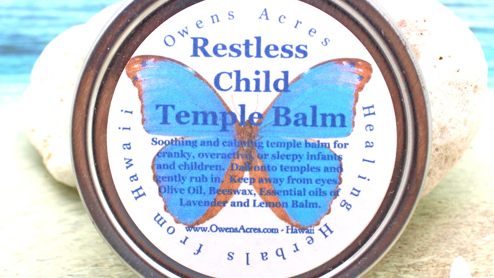 Restless Child Temple Balm - All Natural Calming for Children