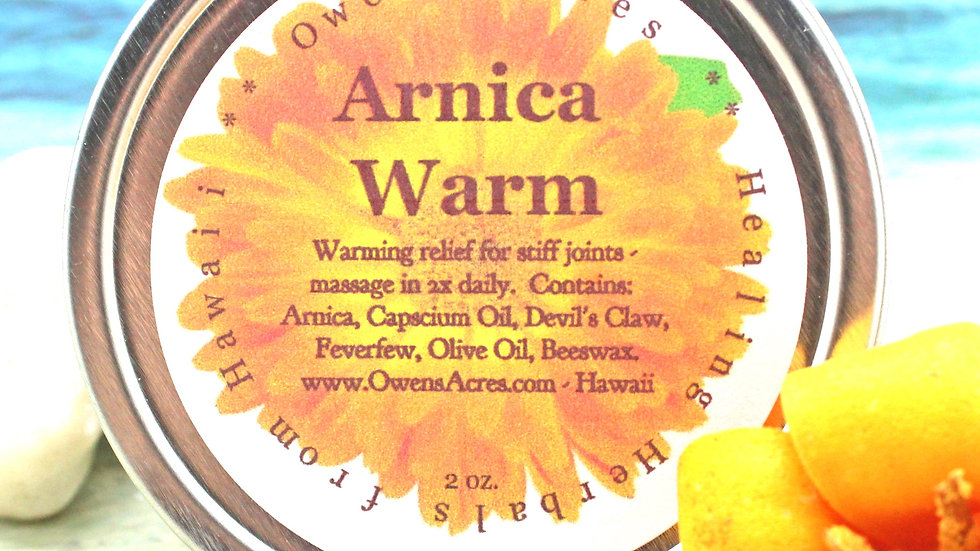 Arnica Salve with Capscium Oil for Stiff Joints
