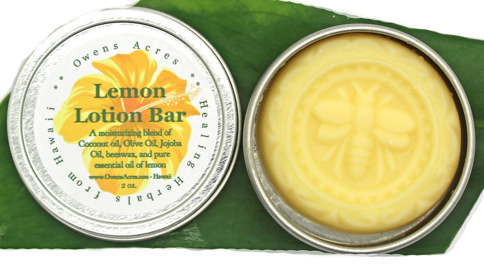 Lemon Solid Lotion Bar