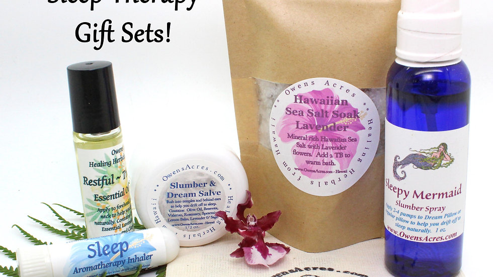 All Natural Sleep Therapy Gift Sets / Self Care Gift Set