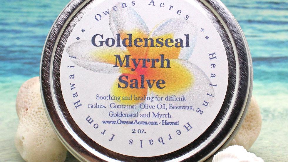 Goldenseal Myrrh Healing Skin Salve / For Stubborn Rashes