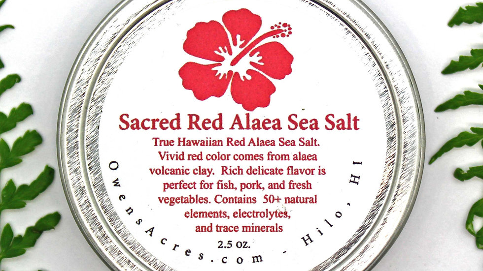Sacred Red Alaea Hawaiian Sea Salt
