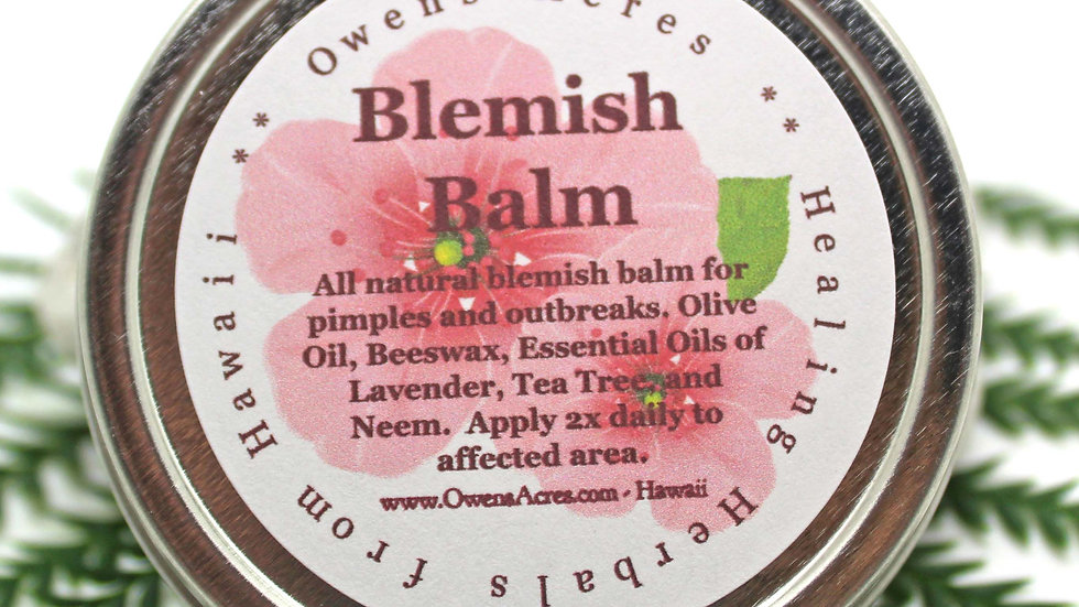All Natural Blemish Balm for Pimples, Blackheads, and Breakouts