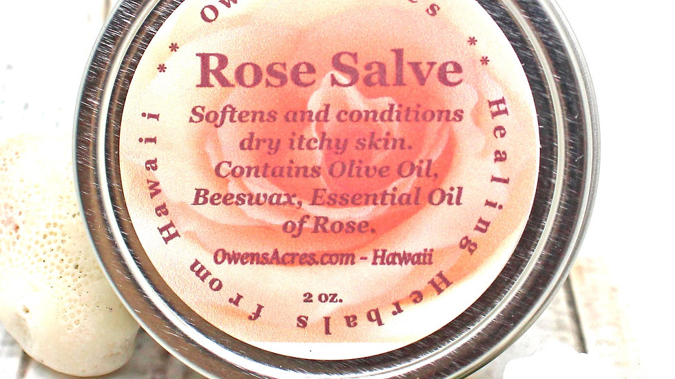 Rose Salve - For Dry Itchy Skin or Calming Solid Perfume
