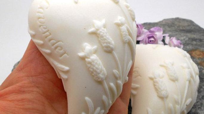 Curved Lavender Heart Soap - Lavender Scented