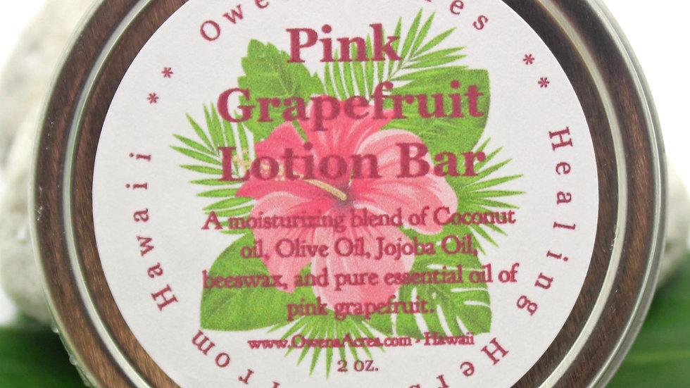 Pink Grapefruit Solid Lotion Bar