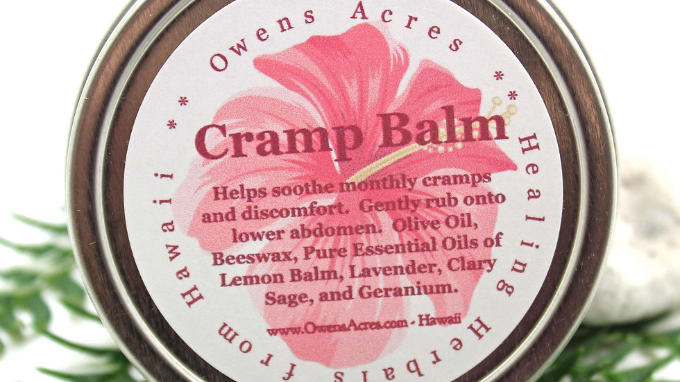 Cramp Relief Balm for Monthly Menstrual Cramps, PMS, or Menopausal Issues