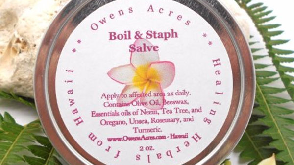 Boil and Staph - Antiseptic Salve to Reduce Boils and Rashes