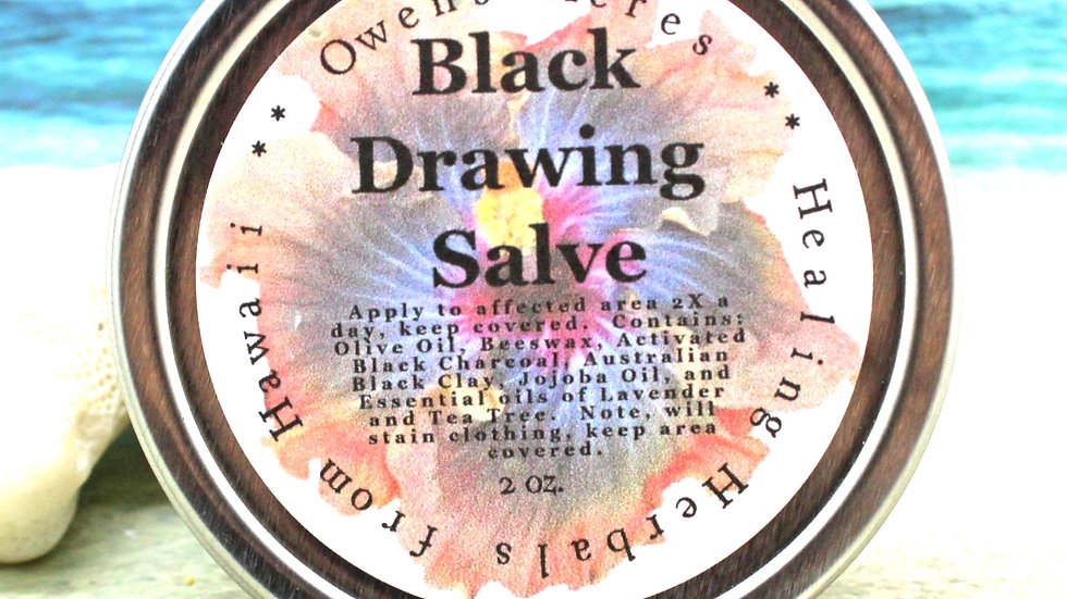 Black Salve for Drawing out Splinters and Infections