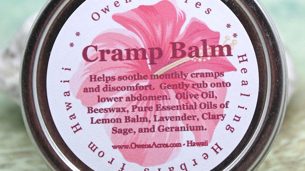 Cramp Relief Balm, All Natural Menstrual Cramp Relief, Cramp Pain, Cramp Balm