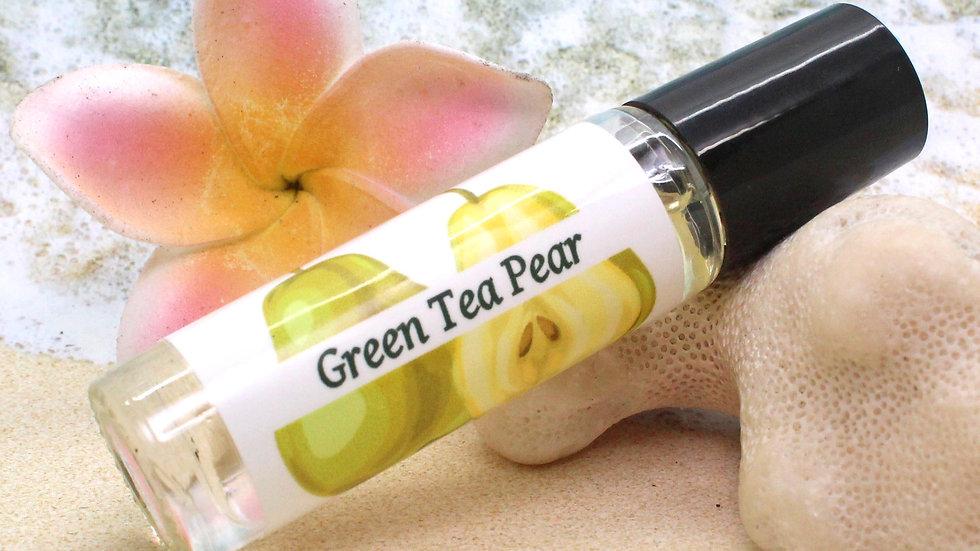 GREEN Tea PEAR Roll On Perfume / Green Tea Perfume / Roll On Oil / Aromatherapy