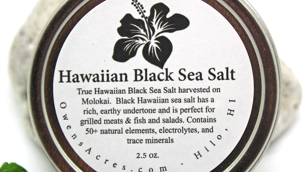 Authentic Black Hawaiian Sea Salt