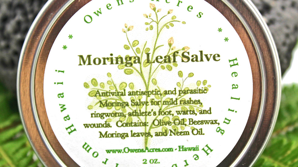 Moringa Antibacterial and Anti-Parasitic Skin Salve