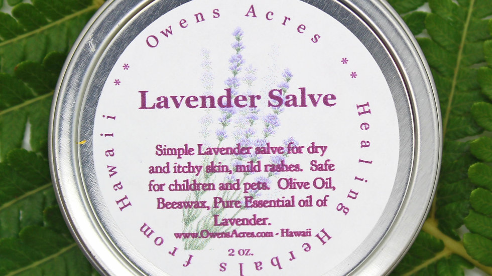 Lavender - For Dry Itchy Skin or Solid Perfume, Calming/Sleep