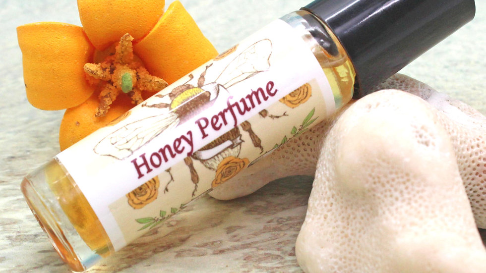 HONEY Roll On Perfume / Roll On Oil / Aromatherapy Gift / Moisturizer / Honey Sc