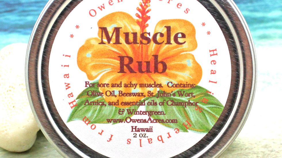 MUSCLE RUB / Herbal Sports Salve  for Sore Muscles - Workout, Sports, Hiking, Mu
