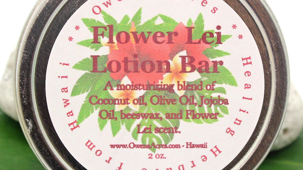 Flower Lei Solid Lotion Bar