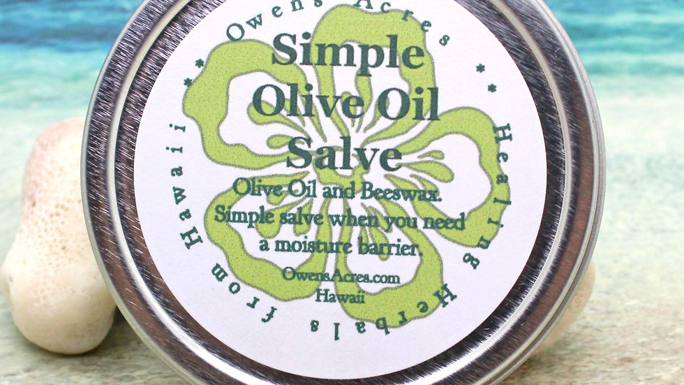 Olive Oil Salve - Mositure Barrier / Dry Skin / Unscented