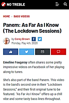 Panem Emeline Fougeray As Far As I Know review No Treble Corey Brown