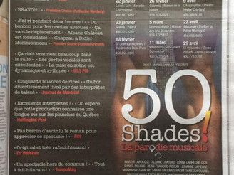 """""""50 Shades of Grey"""" - une belle page dans le journal de Montréal!"""