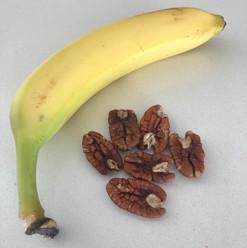 Banana and nuts