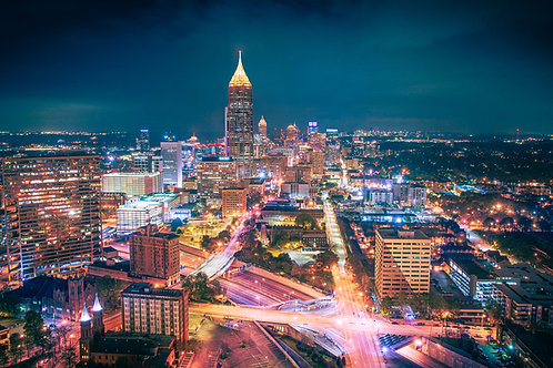 Nighttime over Atlanta