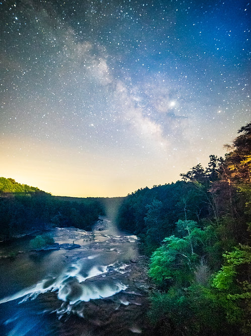 Little River Canyon Falls Milky Way