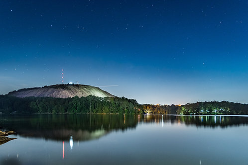 Stone Mountain at night