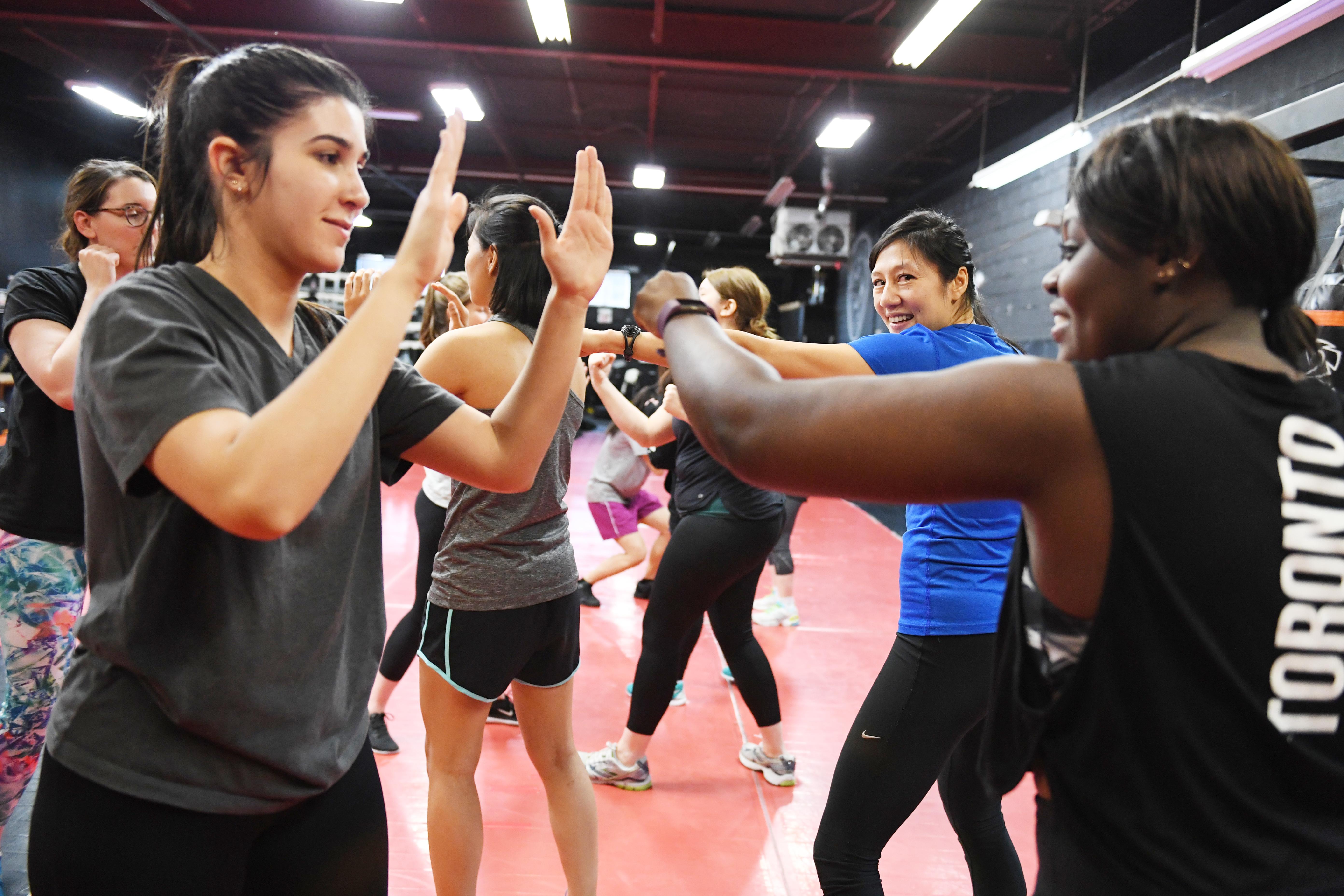 Women's Fitness Boxing Training
