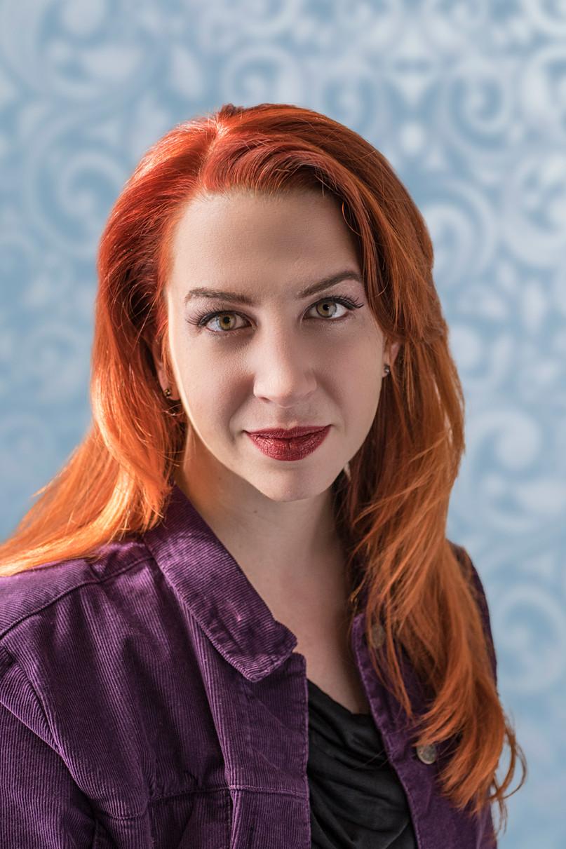 redhead beauty headshot by epicphotoatl.