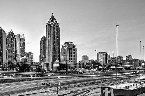 17th Street Skyline, Dawn (black and white)