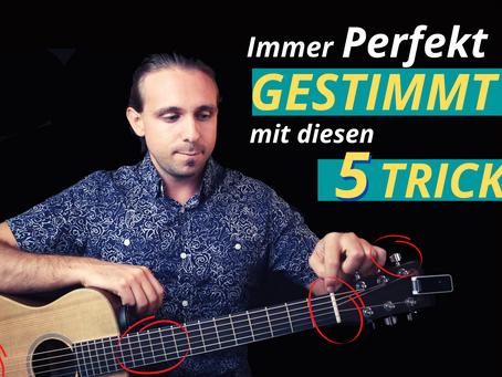 Warum verstimmt sich die Gitarre trotz Stimmgerät immer so schnell - 5 Tipps