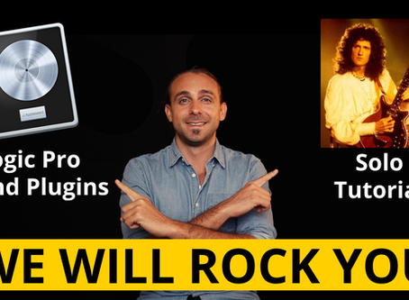 We Will Rock You - Queen Gitarrensolo Tutorial & Logic Sound Plugins