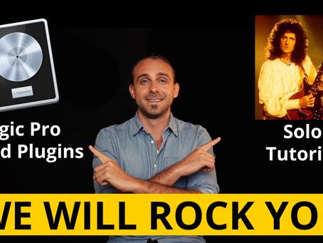 We Will Rock You - Queen Gitarrensolo Tutorial & Logic Sound Plugins
