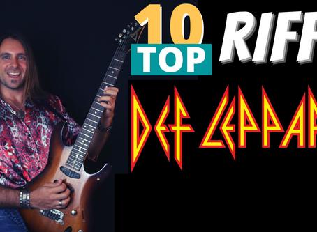 Top 10 Riffs: Def Leppard  (+ Tabs)