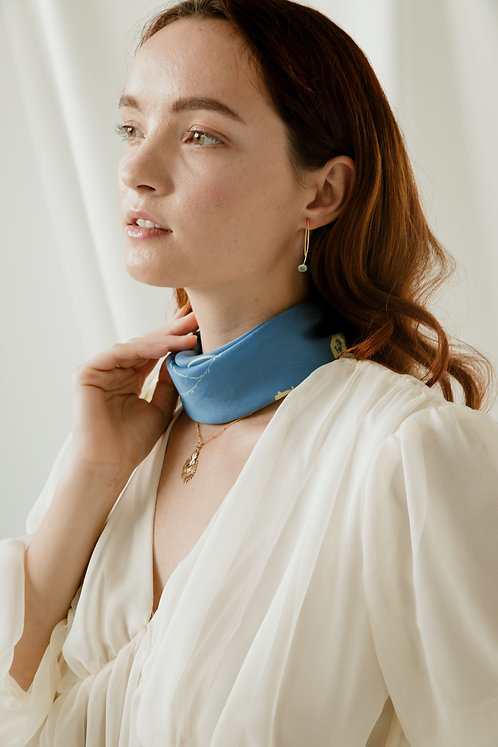 The Our Lady of Lourdes Silk Scarf