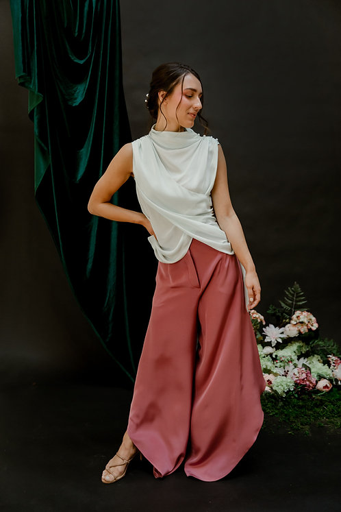 The Siena Pant in Misty Rose