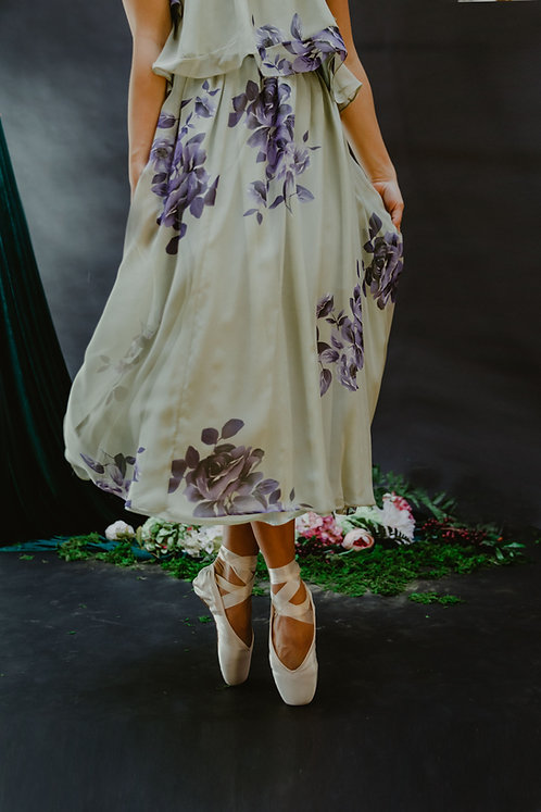 The Cora Skirt in Mint Bouquet
