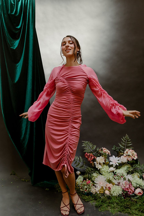 The Fettuccia Dress in Cherry Blossom