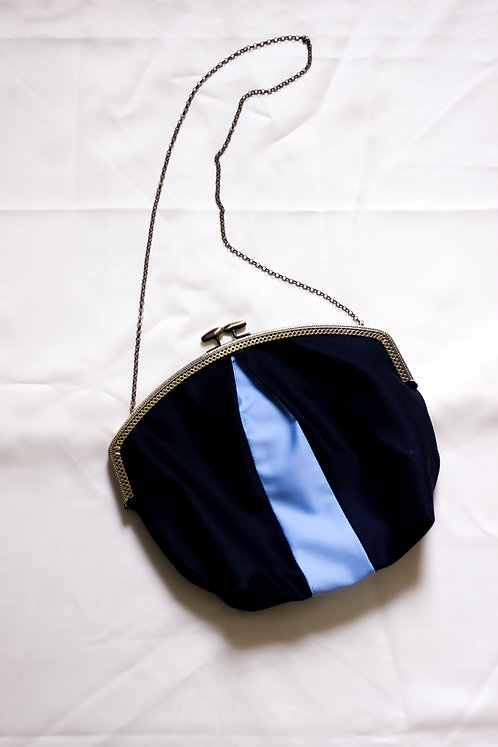 Navy Pleated Purse