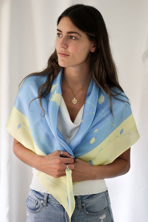 "40""x40"" Our Lady of Lourdes Scarf"