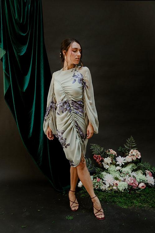 The Fetuccia Dress in Mint Bouquet