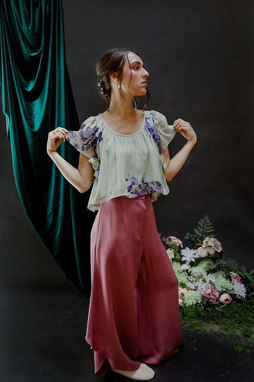 The Cecilia Top in Mint Bouquet