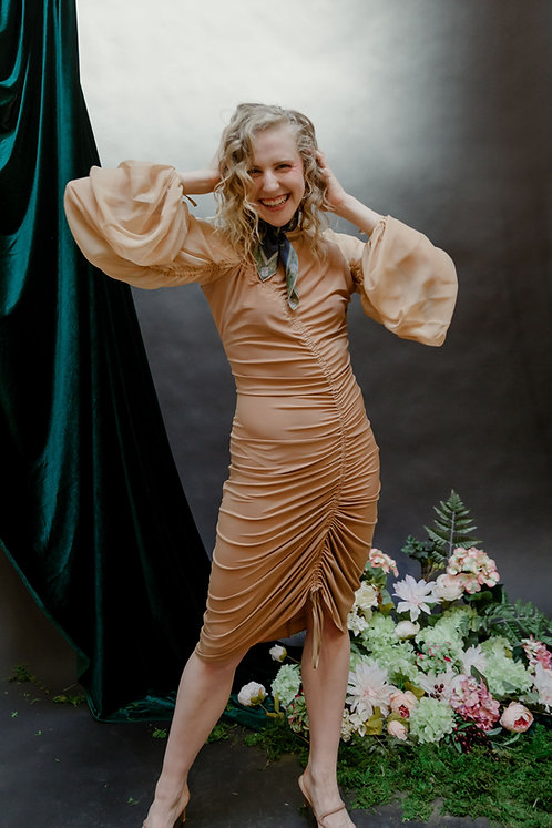 The Fettuccia Dress in Cinnamon