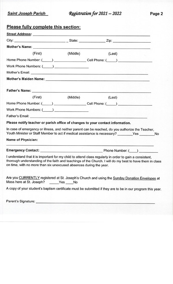 Religious Formation Registration Forms00